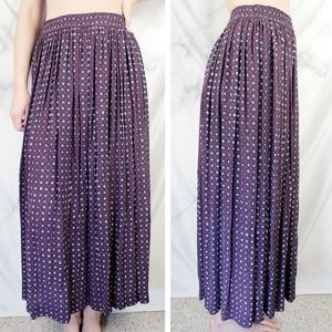 ✨VTG✨ High Waist Boho Printed Maxi Skirt